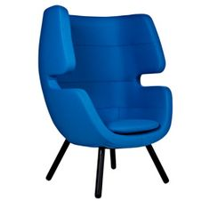 The Moai lounge chair has a metal frame and fully upholstered shell, available in various fabrics or C. Soft Seating, Lounge Seating, Lounge Chairs, Bean Bag Table, Sofas, Modul Sofa, Danish Design Store, Lounge Chair Design, Commercial Furniture