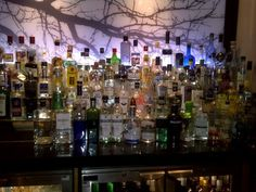 The gin bar at the Feathers Hotel, Woodstock