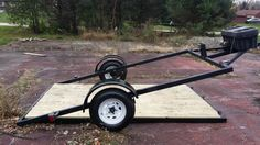 7x10 Lay Flat Utility/Motorcycle Trailer