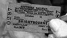 1940s train ticket