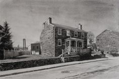 """Clipper Mill House  Watercolor 11""""x16"""""""