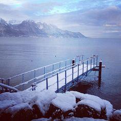 Montreux's lakeshore  #snow #montreux #lakegeneva Fall Winter, Autumn, Lake Geneva, Snow, Fall, Eyes
