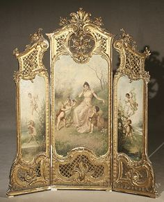 Louis XV Style Giltwood Three-Panel Floor