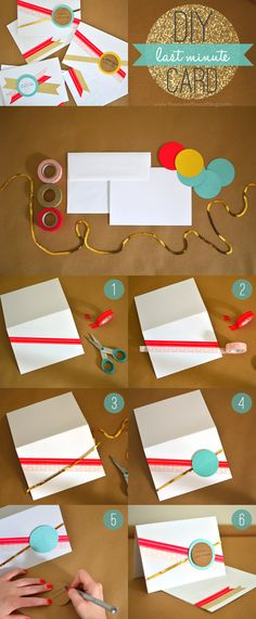 Make a last-minute wedding card for the newlyweds! Super easy and super cute!
