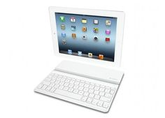 Logitech Ultrathin White iPad Keyboard Cover | The Logitech Ultrathin iPad keyboard case includes Bluetooth connectivity with a rechargeable battery inside that provides unto 6 months of use, on a single charge. |