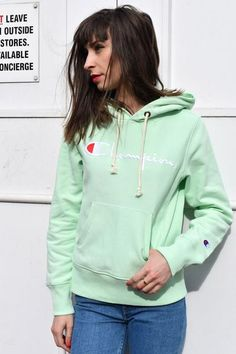 The new retro, mint coloured hoody with cursive front branding, a drawstring hood, fine ribbed sports trim, front pouch pocket and small and sweet outer arm branding.90% Cotton, 10% Polyester.Wash at 40'c.