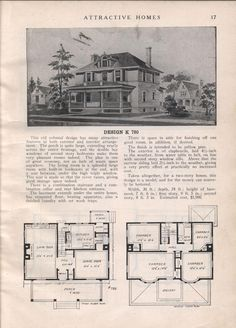 Design K 780 - from Attractive homes by Max L. Keith, Published 1912 192 p. ; ill., plans ; 26 cm. ; trade catalog