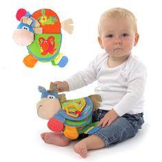 0-12 Meses de Bebé Lindo Burro Animales Libro de Tela Mordedor Juguetes de Aprendizaje y Educación de Juguetes Para Los Niños Recién Nacidos