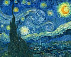 Notte stellata,1889. Vincent Van Gogh