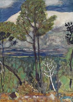 Pierre Bonnard, Pine Trees, Seaside, 1923