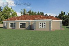 5 Bedroom Single Storey House Plan For Sale NethouseplansNethouseplans 6 Bedroom House Plans, 4 Bedroom House Designs, Garage House Plans, House Plans For Sale, House Plan With Loft, House Plans With Photos, Contemporary House Plans, Modern House Plans, Double Storey House Plans