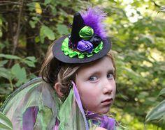 sombrero bruja mini diadema bruja diadema de flores por lexicouture