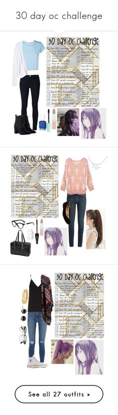 """30 day oc challenge"" by gglloyd ❤ liked on Polyvore featuring RE/DONE, Frame, Rebecca Taylor, Zimmermann, Rimmel, Essie, Yves Saint Laurent, Accessorize, Lancôme and Raey"