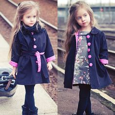 2016 New Girl's Fashion jackets Girls Outerwear Trench size 100-130cm Children's Coat Spring Autumn Baby Coats 2-7years♦️ SMS - F A S H I O N 💢👉🏿 http://www.sms.hr/products/2016-new-girls-fashion-jackets-girls-outerwear-trench-size-100-130cm-childrens-coat-spring-autumn-baby-coats-2-7years/ US $11.36