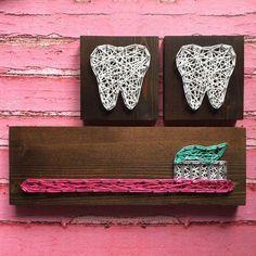 MADE to order string type mini toothbrush characters - Dental Care Dental Office Decor, Dental Office Design, Teeth Whitening Diy, Diy Cadeau, Dental Art, Dental Life, Color Kit, Dental Hygienist, Dental Hygiene School