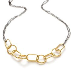 Black & gold chain by Christine Aiko Beck / Aiko Designs
