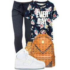 A fashion look from January 2015 featuring flower shirt, Forever 21 and backpack laptop bag. Browse and shop related looks.