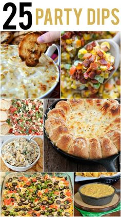 25 Party Dips that are perfect for any party!  A great roundup of savory dips at www.reasonstoskipthehousework.com