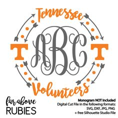 Tennessee Volunteers Monogram Wreath monogram by faraboverubies