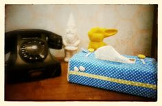 Handmade tissue box cover