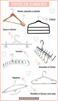 E o cabide certo para cada tipo de roupa!