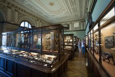 Love the old cases with the wavy glass at the Natural History Museum in Vienna