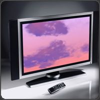 music visualizer on plasma screen