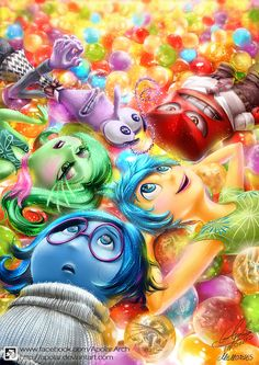 Another INSIDE OUT fan art This one might be the most colorful drawing It's a lot of fun drawing all these characters especially ...