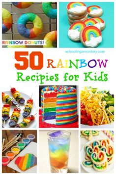 Want to add a little color to your food? These 50 rainbow recipes for kids are fun, delicious, easy, and some are even healthy!