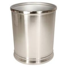 InterDesign Bathroom Wastebasket - Silver Nickel : Target