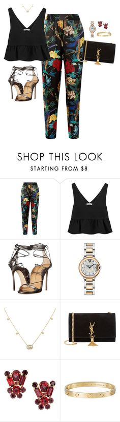 """""""Outfit"""" by caa123 ❤ liked on Polyvore featuring Alice + Olivia, Elizabeth and James, Dsquared2, Cartier, Gucci and Yves Saint Laurent"""