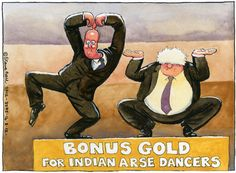 Steve Bell on the Conservatives dancing on the Olympics bandwagon – cartoon