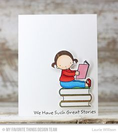 Book Worm Stamp Set and Die-namics - Laurie Willison  #mftstamps