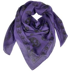 View this item and discover similar for sale at - ALEXANDER MCQUEEN scarf comes in purple silk chiffon with signature black skulls print throughout. Chiffon Scarf, Chiffon Fabric, Silk Chiffon, Leopard Print Scarf, French Silk, Purple Scarves, Black Skulls, Skull Print, Purple And Black