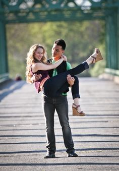 Like this one of guy carrying girl in engagement shoot