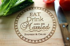 Personalized Cutting Board Custom Engraved by SugarTreeGallery, wedding gift, anniversary gift, Christmas gift $39.95