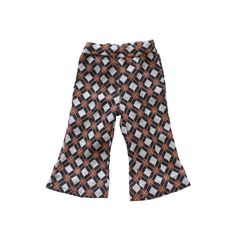 FRENCH VINTAGE 70's / kids / pants / trousers / argyle patterns / brown shades / new old stock / size 1 year