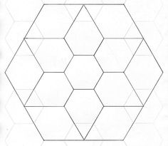 Step 1: Make Your 2-in Hexagon Template | Template, Patchwork and ... : hexagon quilt pattern template - Adamdwight.com