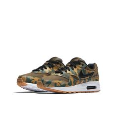 100% authentic 46eda b3b49 Nike Air Max 1 Print Older Kids  Shoe - Olive