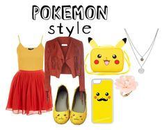 """""""Pokemon Style Pikachu"""" by chibigirl2 on Polyvore featuring Topshop, J.Crew, Glamorous, CellPowerCases, Kenneth Cole, Dettagli and pokemonstyle"""
