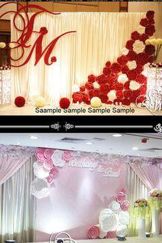 10pcs 40cm Custom Made Paper Foam Flower For Wedding Party Backdrop Decoration