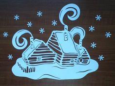 Мастер-класс «Вытынанки. Как самостоятельно создать резную картинку на окно» - Для воспитателей детских садов - Маам.ру Christmas Paper, Christmas Crafts, Christmas Ornaments, Laser Paper, Diy And Crafts, Paper Crafts, Christmas Window Decorations, Wood Carving Patterns, Window Art