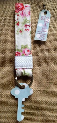 handmade keychain keyring fob made in tanya whelan fabric