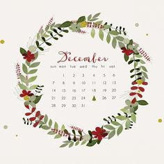 Ok, I need to stop with all of the December themed stuff, but I can't! Look at how pretty this calendar is!