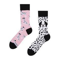 Good Mood Eco Friendly Socks Pink Dalmatians Color Blending, Good Mood, Gift For Lover, Bleach, Eco Friendly, Dog Cat, Branding, Dalmatians, Fabric