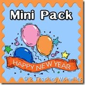 Free New Year Printable Pack + New Year's Day Interview from 2 Teaching Mommies.