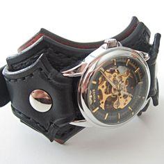 Steampunk Wrist Watch Man Wrist Watch Steampunk Leather