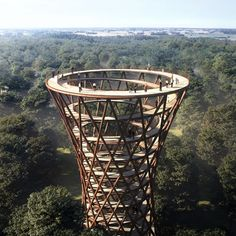Gigantic Treetop Walkway Offers Spiraling Elevated Path Through Preserved Forest