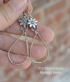 Blossom on the Vine .... sterling silver by MikelenesJewelry