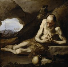 Jusepe de Ribera, Saint Paul the Hermit, 1640. Museo del Prado, Madrid, Spain.